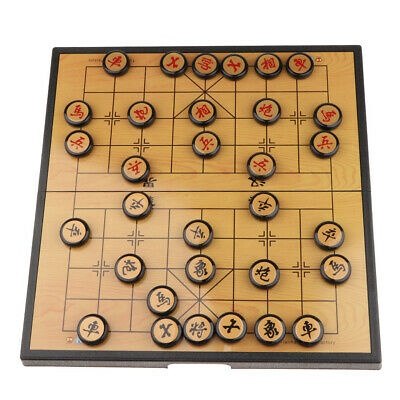 Portable Chinese Chess Set Magnetic Board Game XiangQi Travel Game 35*12cm