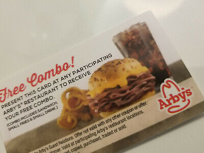 (25) Arby's Combo meal Vouchers NO EXPIRATION,  FAST SHIPPING!