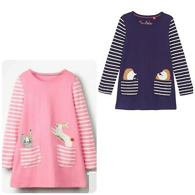 Boden Girls Tunic Dress Animal In Pocket Ex Mini Boden Age 2-8 Years RRP £32