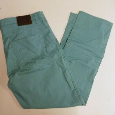 Mens Ex M&S Blue Harbour Luxury Tapered  Chino Trousers Turquoise  CZ5