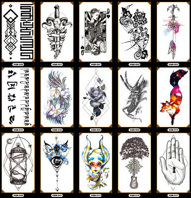 MAN LADY Full fore Arm Sleeve Temporary Tattoo Sticker Body Art 3D Waterproof