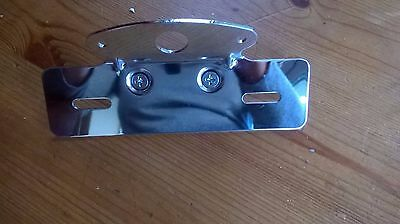 Chrome Tail Light & Number Plate Mount