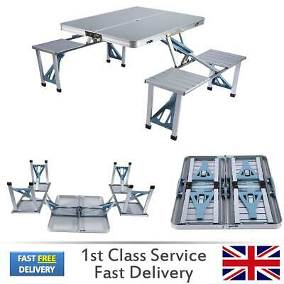 Aluminium Portable Folding Camping Picnic Table Outdoor BBQ With Chairs Stools