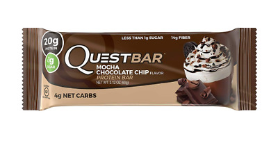 Quest Questbar Protein Bar Mocha Flavor (Pack of 12) Best By 04/24/2019