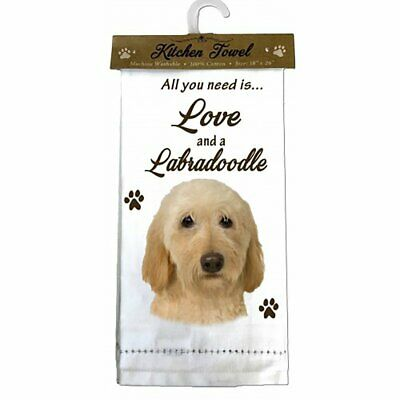 E&S Pets 700-121 Labradoodle, Cream Kitchen Towels, Off-White