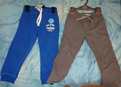 2 BRAND NEW Baby Boy Trousers 2-3 Years Mothercare Primark