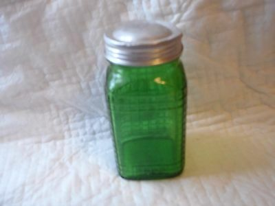 Green Glass Spice Container Owens-Illinois