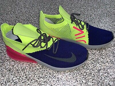 best cheap 41e6f d500f NEW! Nike Air Max 270 Flyknit Mens Shoes- SIZE 10.5- Blue Pink Yellow