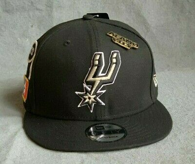 c27630a8e6303e NEW ERA SAN Antonio Spurs P.U Fitted Hat Metallic Logo Hardwood ...