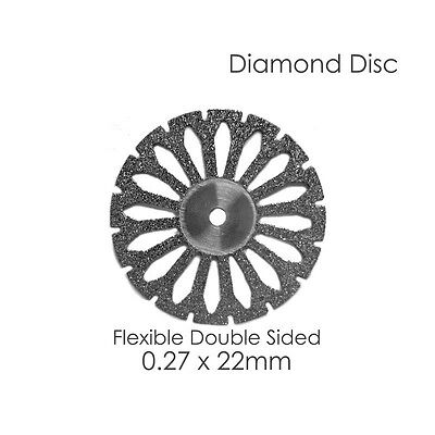 1 Diamond Disc For Your Dental Lab Flex Double Sided .27 x 22mm Disk