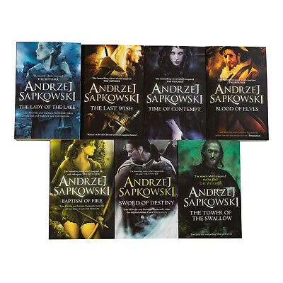 Witcher Series 7 Books Young Adult Collection Paperback By Andrzej Sapkowsk