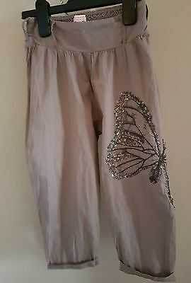 Girls butterfly by Matthew Williams brown butterfly detail trousers aged 4 years