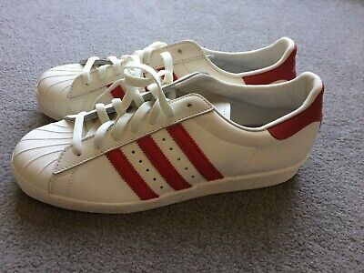 Adidas And Vintage Retro 80s Superstar Dlx New Sneakers Trainers Red White Brand vwNnmPy80O