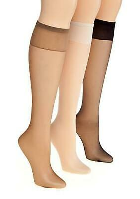 81a86cb37 Berkshire Nylons Pantyhose All Day Sheer Knee High Stocking Reinforced   6355 NEW
