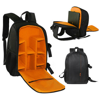 "Large DSLR Waterproof Camera Backpack Bag Case DIY For Canon Nikon 15.6"" Laptop"
