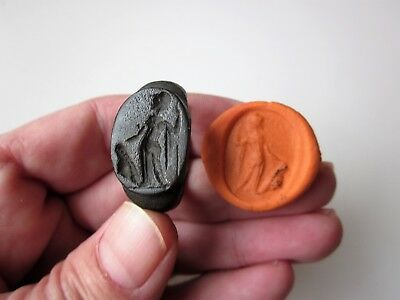 EXTREMELY RARE perfect ancient roman massive bronze ring seal 1 - 2 A.D.