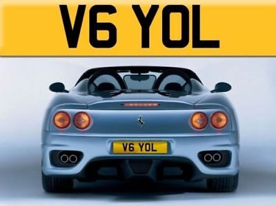 Private Number Plate V6 YOL - Cherished Registration Number - Yolande Fast Yol