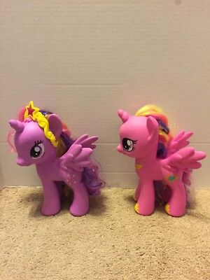 Pair Of PVC My Little Pony Figurines Princess Twilight Sparkle And Cadence.