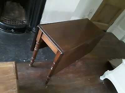 Victorian Mahogany Pembroke Drop Leaf Occasional Table