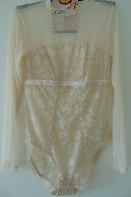 M&S Autograph Alabaster French Lace & Silk Body/Lingerie RRP £45 UK10 &12
