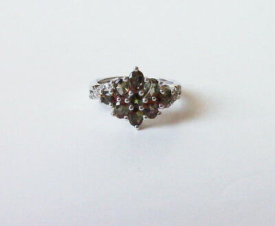 Natural Andaluzite, Topaz sterling silver ring. Size 6; TGW1.705 Cts(#2845)