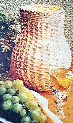 How to make a Vase Shaped Shade from Cane or Raffia Weaving  Pattern Reproduced