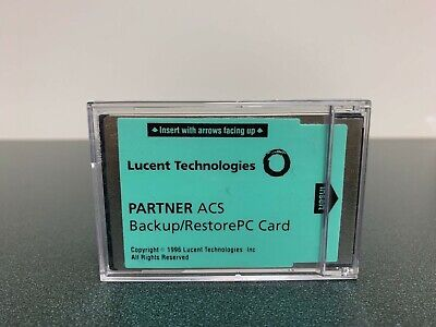 Lucent Technologies Partner ACS Backup/RestorePC Card in Case