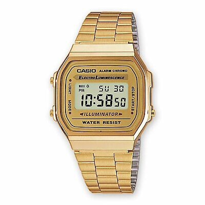 Casio A168WG Retro Stainless Steel Watch Gold