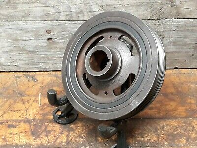 Vintage industrial steampunk cast iron gear sprocket lamp base project