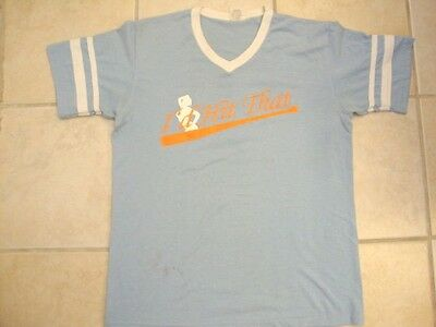"""""""I'd Hit That"""" Sexy Pin Up Girl V-Neck Baseball Jersey Number #1 T Shirt M"""