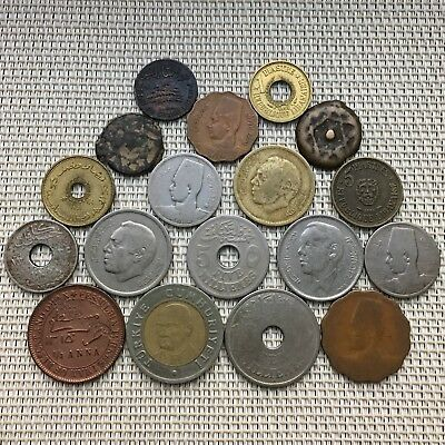 Lot Of Old Coins,Middle East,Islamic,Arabic,Egypt,Turkey & Other Countries X 18.