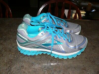 928242d840a Brooks Gts 16 Women s Athletic Running Shoes Size 9 Gray Teal Purple  1202031B170
