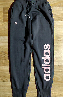 Adidas Vintage Womens Tracksuit Pants Trousers Gray Pink Joggers