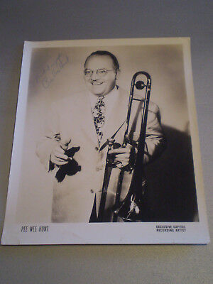 Bandleader Pee Wee Hunt Signed Inscribed Capitol Records Artist Press Photo