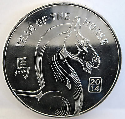 Chinese Year Of The Horse 2014 .999 Fine Silver 1 Troy Oz Commemorative Round