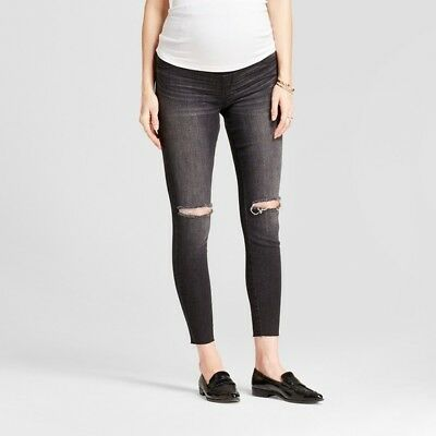 180513187b966 ISABEL MATERNITY JEANS 4 Skinny Jegging Distressed Crossover Panel ...