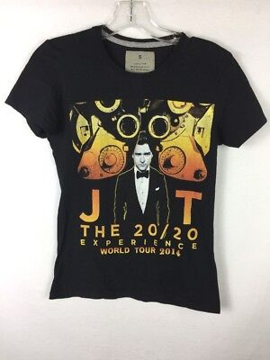 Justin Timberlake JT The 20/20 Experience World Tour 2014 T-Shirt - Womens Small