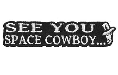See You Space Cowboy Bounty Hunter Bebop Anime Decorative Collectible Patch