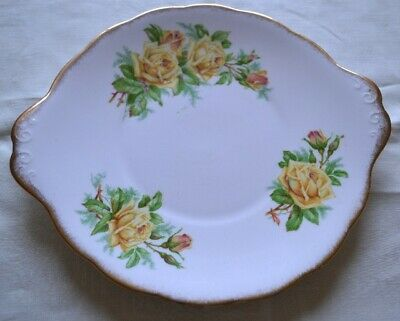 Royal Albert Cake Plate - Tea Rose - Yellow Roses Discontinued