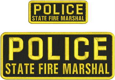 u.s.marshal mbroidery patch 2X11 hook on back  black  background  silver letters