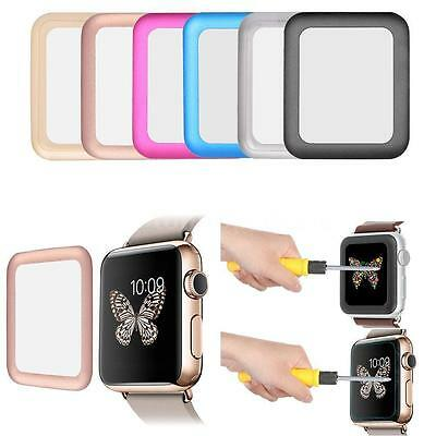 Premium Rim Tempered Glass Screen Protector Cover For Apple Watch 38MM
