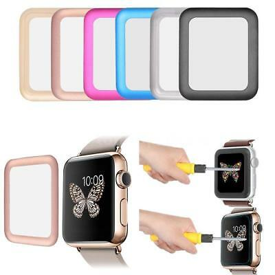 Premium Rim Tempered Glass Screen Protector Cover For Apple Watch, 42mm
