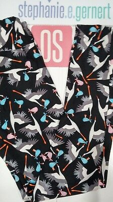 68bd39ae8b367 LuLaRoe One Size Storks Baby Gender Reveal Nurse NICU Leggings OS