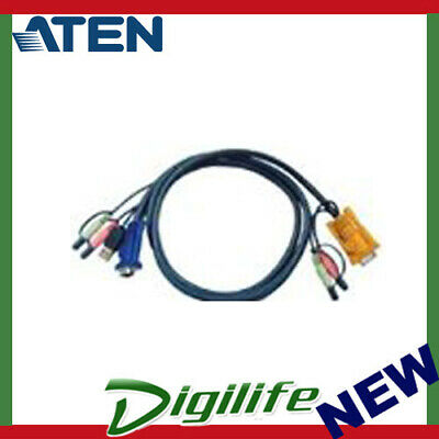 Aten KVM 5M Audio Cable HD15M, USB A M, 2 X 3.5mm  2L-5305U