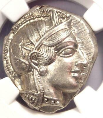 Ancient Athens Greece Athena Owl Tetradrachm Coin (440-404 BC) - NGC MS (UNC)!