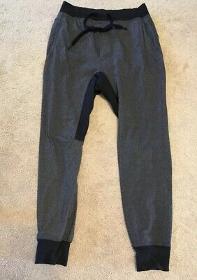d72b411997 Mens Lululemon Anti Gravity (?) Joggers MEDIUM Pants Dark Gray Black AMAZING