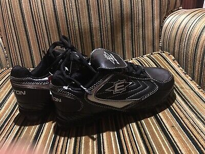 EASTON KID'S BASEBALL Cleats Size 2 5 Foundation Low - NEW With Tags Black