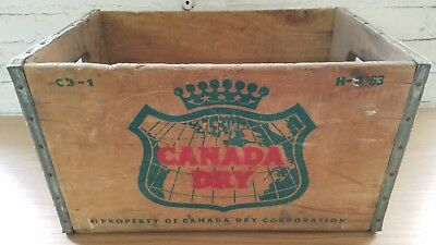 Vintage Canada Dry Wooden Box Crate Carrier