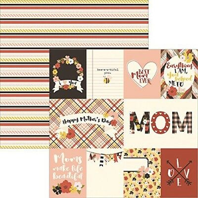 12x12 Mom Simple Stories I Love You Mom 2pc Scrapbook Paper