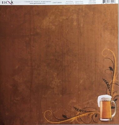 Moxxie: 12x12 Craft Brew: Cold One 2pc Double-Sided cardstock Scrapbook Paper